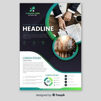 Download Business Brochure Template With Photo For Free for New Business Flyer Template Free