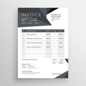 Download Elegant Black Business Invoice Template For Free in Quality Free Business Invoice Template Downloads