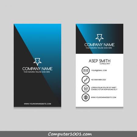 Download Gratis 54 Template Kartu Nama Terbaru - Computer 1001 intended for Best Plain Business Card Template Microsoft Word
