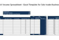 Ebay Income Spreadsheet – Excel Template For Sole Trader intended for Best Free Excel Spreadsheet Templates For Small Business