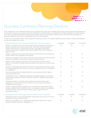 Editable Business Continuity Plan Checklist - Fill Out pertaining to Business Continuity Management Policy Template