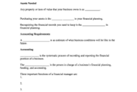 Editable Items Needed For Financial Planning – Fill, Print with regard to Unique Business Valuation Report Template Worksheet