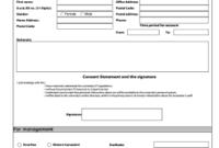 Editable New Employee Personal Information Form Template for Business Information Form Template