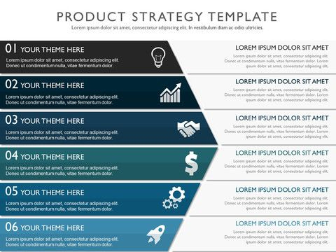 Effective Product Strategy Presentation Template within One Page Business Summary Template