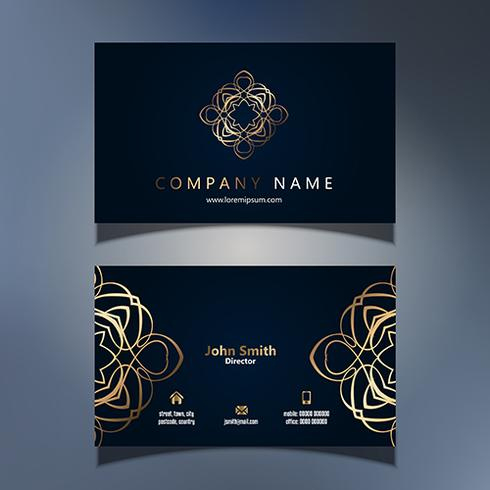 Elegant Business Card Design - Download Free Vector Art with regard to Email Business Card Templates