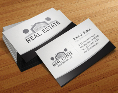 Elegant Real Estate Business Card Template On Behance inside Unique Business Plan Template For Real Estate Agents