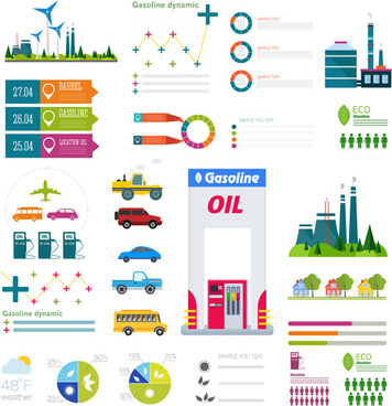Elements Of Cartoon Gas Station Vector Free Vector In for Petrol Station Business Plan Template
