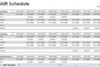 Employee Shift Schedule | Employee Shift Schedule Template within Best Word 2013 Business Card Template