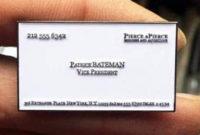Enamel Pin Horror American Psycho Patrick Bateman Business regarding Paul Allen Business Card Template