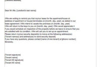 End Of Lease Letter To Tenant From Landlord Check More At with Business Lease Proposal Template