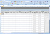 Equipment Inventory List In Quality Business Process Inventory Template