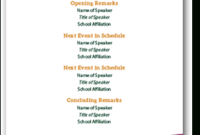 Event Agenda Templates | Brand | Sacramento State intended for Party Agenda Template