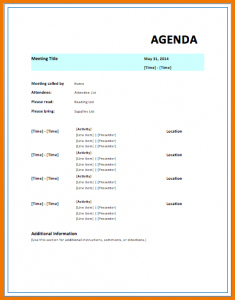 Event Itinerary Template | Template Business Inside Business Strategy Meeting Agenda Template
