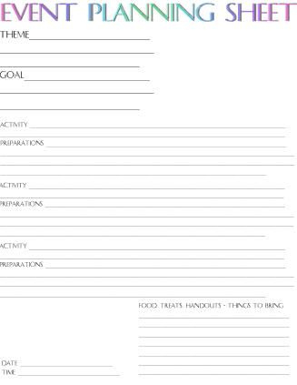 Event Planning Sheet | Event Planning Sheet, Event within New Events Company Business Plan Template