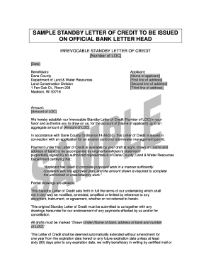 Example Standletter Of Credit - Fill Online, Printable within Australian Business Letter Template