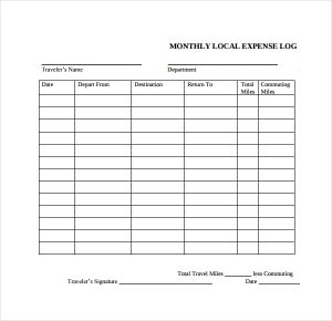 Expense Log Template | Charlotte Clergy Coalition throughout Small Business Expense Sheet Templates