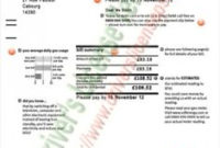 Fake,Utility,Bill,Template, Printable, Sample, Download inside Fake Business License Template