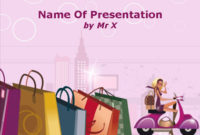 Fashion Shopping Girl Powerpoint Template pertaining to Best Business Attire For Women Template