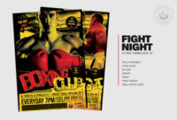 Fight Night Flyer Template V4 | Free Posters Design For intended for Free Dance Studio Business Plan Template