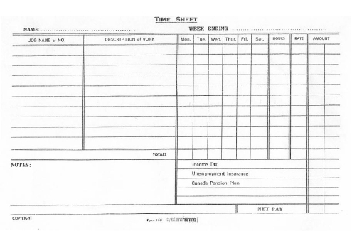 Figure 3. A Timesheet Usedconstruction Workers throughout Best Construction Business Plan Template Free