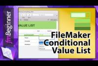 Filemaker Beginner Tutorial #8 | Conditional Value List intended for Filemaker Business Templates