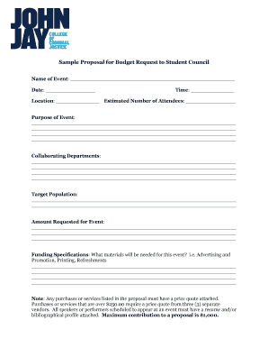 Fillable Budget Proposal Sample For Event – Edit, Print Regarding Proposed Budget Template
