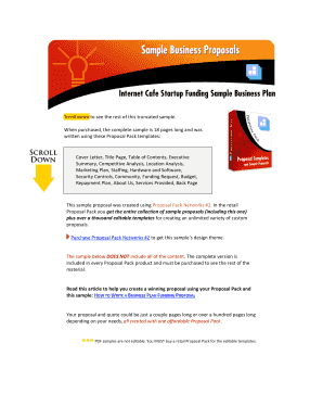 Fillable Budget Proposal Sample Letter - Edit, Print in Best Budget Template For Startup Business