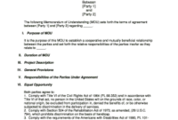 Fillable Can Mou Be Cancelled – Edit Online, Print regarding Fresh Template For Memorandum Of Understanding In Business