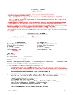 Fillable Education Consultant Proposal Template Forms And with Fresh Email Template For Business Proposal