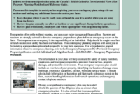 Fillable Online Contingency Plan Template Template For within New Ranch Business Plan Template