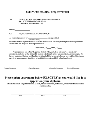 Fillable Online Early Graduation Request Form - Columbia in Ultimate Business Plan Template Review