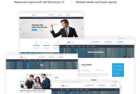 Financial Advisor Website Template #17122 within New Website Templates For Small Business