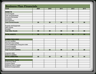 Financial Business Plan Template - 3+ Excel, Pdf, Open with Marketing Plan For Small Business Template