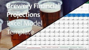 Financial Projections Excel Templates - Instant Downloads intended for Brewery Business Plan Template Free