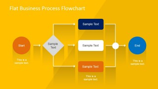 Flat Business Process Flowchart For Powerpoint - Slidemodel with Best Business Process Modeling Template
