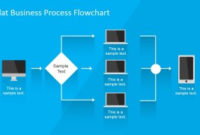 Flat Business Process Flowchart For Powerpoint – Slidemodel within Best Business Process Modeling Template