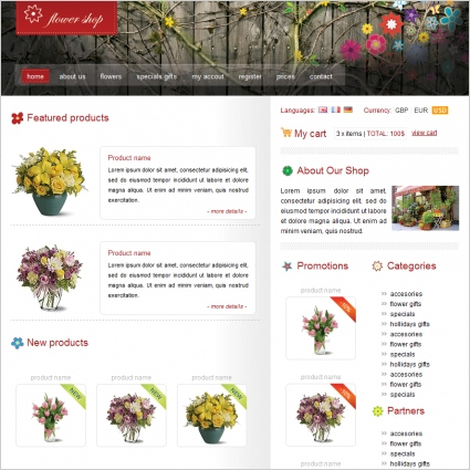 Flower Shop Template Free Website Templates In Css, Html intended for Grocery Store Business Plan Template