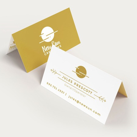 Folded Business Cards | Uprinting within New Fold Over Business Card Template