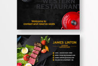 Food Western Food Steak Tomato, Vegetables, Simple, Poster intended for New Food Business Cards Templates Free