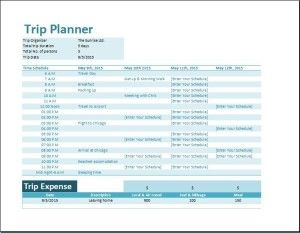 Formal Vacation Trip Planner Template | Travel Planner throughout Business Travel Itinerary Template Word