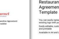 Franchise Checklist Template inside Franchise Business Model Template