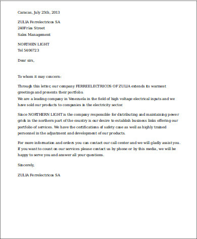 Free 11+ Sample Business Introduction Letter Templates In for New Business Introduction Email Template