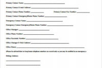 Free 12+ Sample Contact Information Forms In Ms Word | Pdf throughout Business Information Form Template