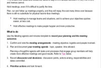 Free 15+ Sample Meeting Minutes In Ms Word | Pdf | Google For Agenda And Meeting Minutes Template