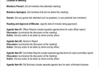 Free 15+ Sample Meeting Minutes In Ms Word | Pdf | Google within Annual Board Meeting Agenda Template