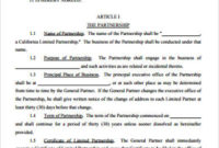 Free 18+ Sample Partnership Agreement Templates In Pdf throughout Business Partnership Contract Template Free