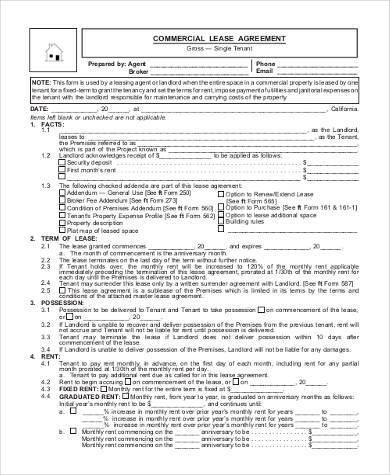 Free 23+ Printable Agreement Forms In Pdf | Word inside Business Lease Agreement Template Free