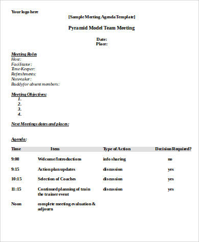 Free 30+ Agenda Format Samples In Ms Word | Pdf intended for Sample Agenda Template For Meeting