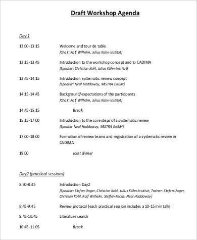 Free 32+ Agenda Samples In Pdf for Marketing Meeting Agenda Template