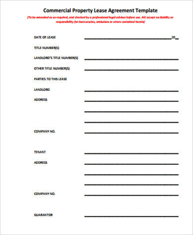 Free 37+ Sample Lease Agreement Templates In Ms Word | Pdf pertaining to New Business Lease Agreement Template Free